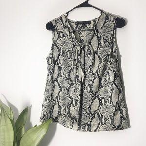 Snake Skin Print Sleeveless Blouse Size 6
